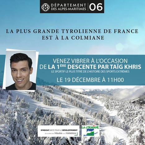 1ère descente par Taig Khris de la plus grande tyrolienne de France !   Côte d'Azur Tourisme   Scoop.it