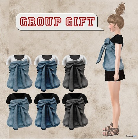 Ribbon Tube Top Group Gift by M.I.X. | Teleport Hub - Second Life Freebies | Second Life Freebies | Scoop.it