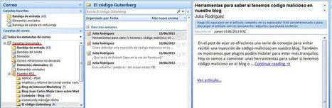 Utilizar Outlook como agregador de feeds RSS | El código Gutenberg | El código Gutenberg news | Scoop.it
