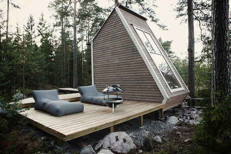 A cabin that's so small, it doesn't need a permit | Architecture et Ingénierie bois | Scoop.it