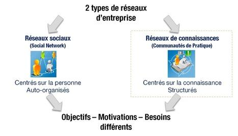 Réseaux Sociaux d'Entreprise versus Réseaux de connaissances | VEDALIS Blog | Nouvelles des TICE | Scoop.it