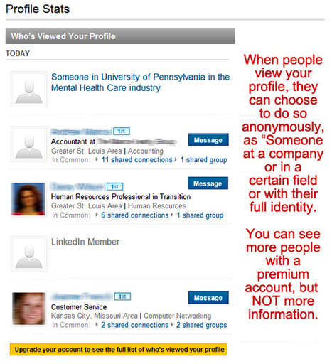 Help! I can no longer see who viewed my profile on LinkedIn | Get a Job Tips | Scoop.it