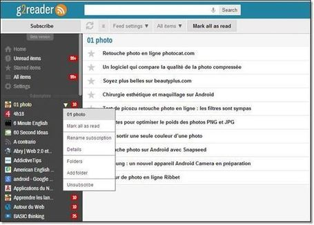 Un lecteur RSS (encore un ) G2reader.com | formation 2.0 | Scoop.it