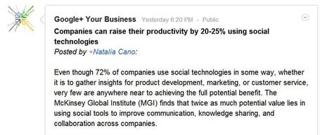 What Would You Do With 25% More Productivity? | Crowd Hydrant | The Google+ Project | Scoop.it