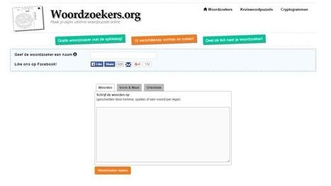 Edu-Curator: Op 'Woordzoekers' kun je gratis woordzoekers, kruiswoordpuzzels en cryptogrammen maken en printen | Tools en tips onderwijs | Scoop.it