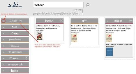 u.ki : un métamoteur de recherche pour ebooks [ex : Zotero]   GEOsources.ch   Zotero   Scoop.it