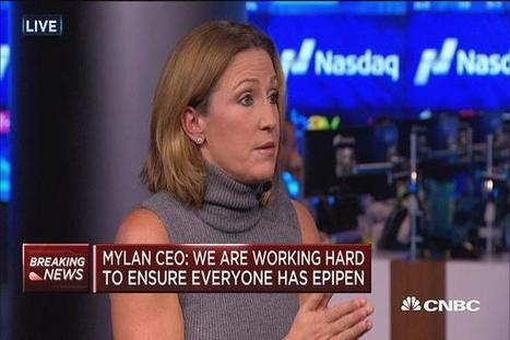 Mylan CEO on EpiPens: The system rewards higher prices | Business News & Finance | Scoop.it