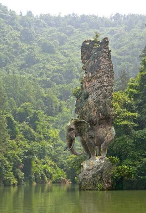 """Such Amazing God Gifts - """"elephant carved from rock"""" 