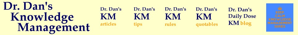 Dr. Dan's Knowledge Management