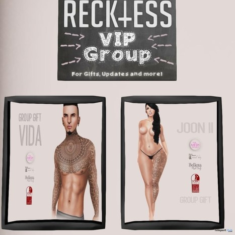 Vida and Joon II Tattoos for Men and Women May 2015 Group Gift by Reckless | Teleport Hub - Second Life Freebies | Second Life Freebies | Scoop.it