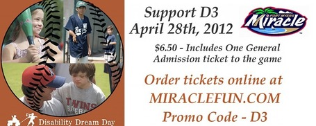 Disability Dream Day @DaveClarkBall @D3_Dream_Day Ft. Myers Miracle  April 28, 2012 at 9:00 AM - 9:30 PM | Today's Transmedia Sports | Scoop.it