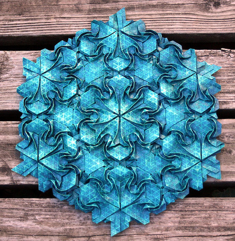Origami Masks and Tessellations by Joel Cooper | Colossal | [THE COOL STUFF] | Scoop.it
