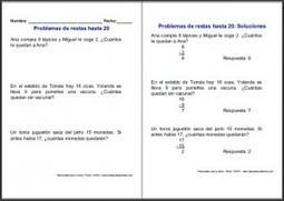 Sumas y restas: Fichas de problemas de restas | Matemáticas Primaria | Scoop.it