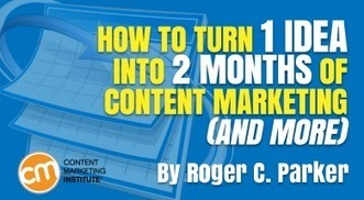 How to Turn 1 Idea into 2 Months of Content Marketing (and More) via @donhornsby | AtDotCom Social media | Scoop.it