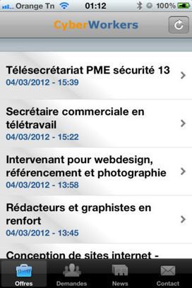Cyberworkers.com lance son application Iphone   Télétravail : Cyberworkers.com   Scoop.it