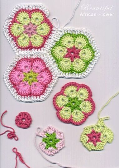 FREE Crochet: African Flower / Paperweight Granny-Needle and Hook Patterns | Needle and Hook Patterns-all free | Scoop.it