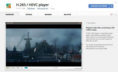 H.265/HEVC video app for Chrome browser:  libde265 HEVC — H.265 High Efficiency Video Coding | Encoding video | Scoop.it