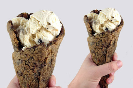 Chocolate Chip Cookie Ice Cream Cone is Next-level Cone Innovation - FOODBEAST | Snacks and sweets | Scoop.it