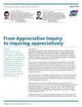 From Appreciative Inquiry to inquiring appreciatively | Art of Hosting | Scoop.it