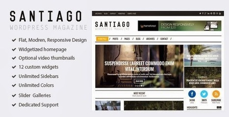 Santiago - Responsive WordPress Magazine Theme - Download! New Themes and Templates | hahai | Scoop.it