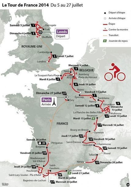 Tour de France 2014 : des pavés et cinq arrivées au sommet | A la rencontre des ch'tis | Scoop.it