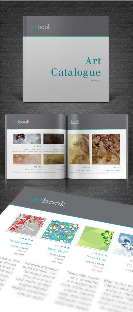 Free Art Catalogue InDesign template for creating brochures | Creating | Scoop.it