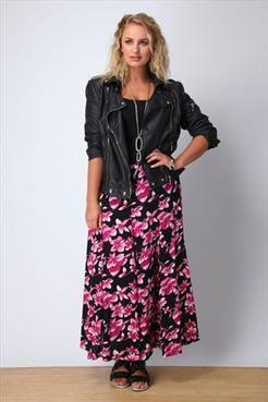 Cerise Pink Floral Fit And Flare Skirt | Plus Size Shop | Scoop.it