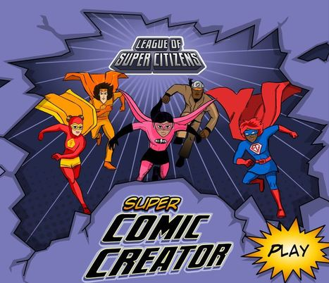 The League of Super Citizens: Super Comic Creator - TVOKids.com #digtalstorytelling | KB...Konnected's  Kaleidoscope of  Wonderful Websites! | Scoop.it