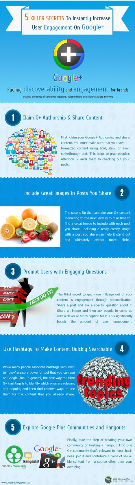 5 Killer Secrets to Instantly Increase Engagement on Google Plus [infographic] | Social Marketing Revolution | Scoop.it