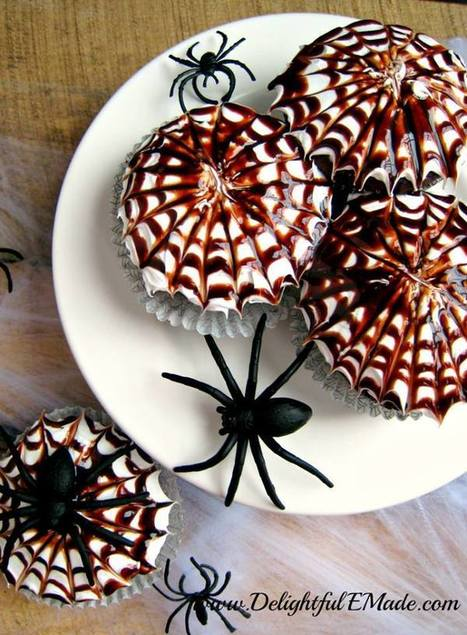 Spooky Spiderweb Cupcakes | Machinimania | Scoop.it