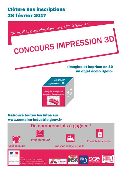 """Concours impression 3D - """"Imagine et imprime un objet écolo rigolo""""   Pôle de formation BRIACE   Scoop.it"""
