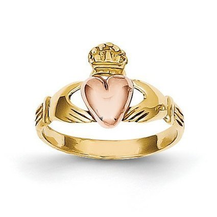IceCarats Designer Jewellery Size B 14Ct Two-Tone Baby Claddagh Ring | AJK-Web | Scoop.it
