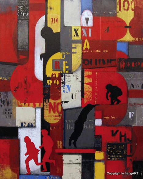 tableau Delgado 148 | Tableaux des artistes du hangART | Scoop.it