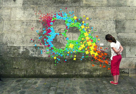 Origami Street Art by Mademoiselle Maurice | Made with (and of) Paper | Scoop.it