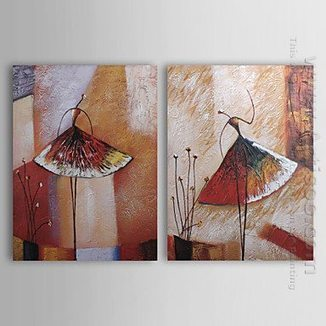 Hand-painted Abstract Oil Painting - Set of 2 -Canvas Sets | Black White Sepia Canvas Painting Sets | Scoop.it