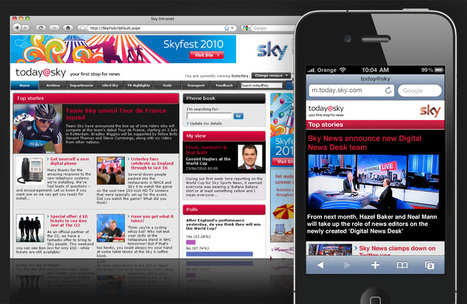 Designing Sky's intranet and mobile intranet experience today@sky | Mobile intranet examples | Scoop.it