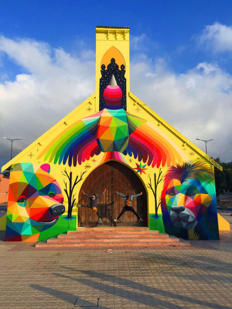 Artist revives an abandoned church by turning it into art | Creatively Teaching: Arts Integration | Scoop.it