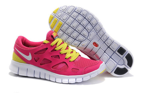 Nike Free Run 2 Bright CeriseWhite-Anthracite-Volt Womens Shoes | my style | Scoop.it