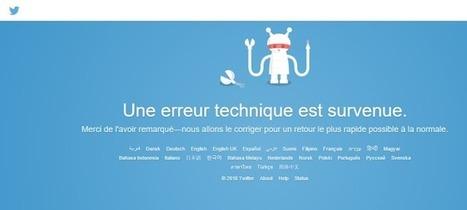Twitter : Pourquoi une si longue panne technique ? | Chiffres et infographies | Scoop.it