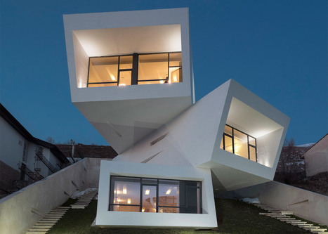 Iranian house by New Wave Architecture is three stacked boxes | Bentley Systems | Scoop.it