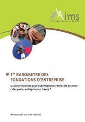 Mecenova - IMS–Entreprendre pour la Cité publie le premier Baromètre des fondations d'entreprise   ISR, DD et Responsabilité Sociétale des Entreprises   Scoop.it