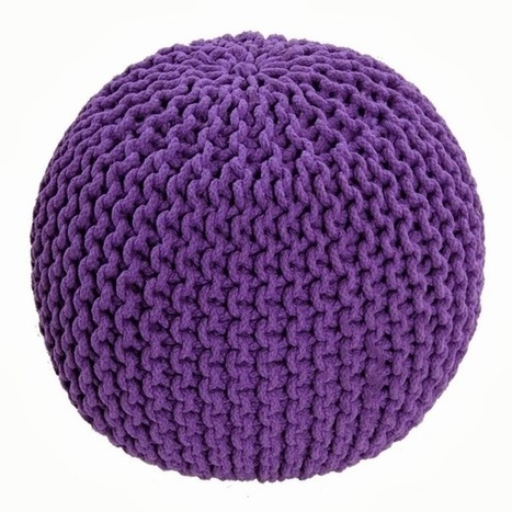 Beautiful chunky Knitted Pouffe Or Footstool | Home Accessories ! | Scoop.it