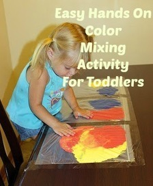 Sensory Lesson – Hands On Color Mixing | Craft and other ideas | Scoop.it