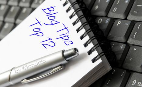 Blogging For Social Media Marketing - My Top 12 Tips   Markedsføringsliste   Scoop.it