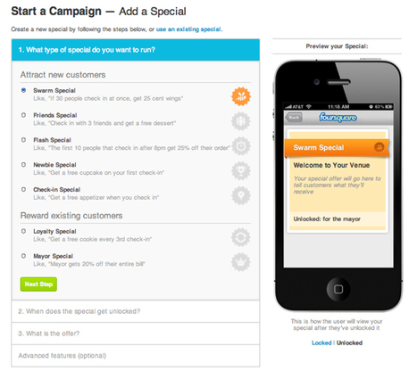HOW TO: Set Up a Foursquare Special | Mashable | Marketing Strategy and Business | Scoop.it