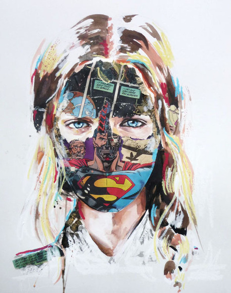 "Mixed Media Magic by Sandra Chevrier | ""Life Without Art Is Stupid"" 