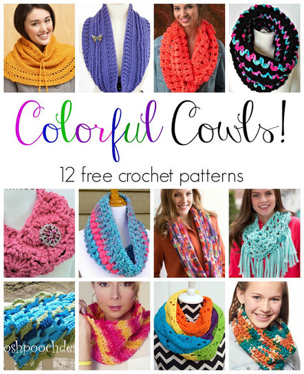 Fiber Flux: Colorful Cowls! 12 Free Crochet Patterns... | Free crochet patterns and tutorials | Scoop.it