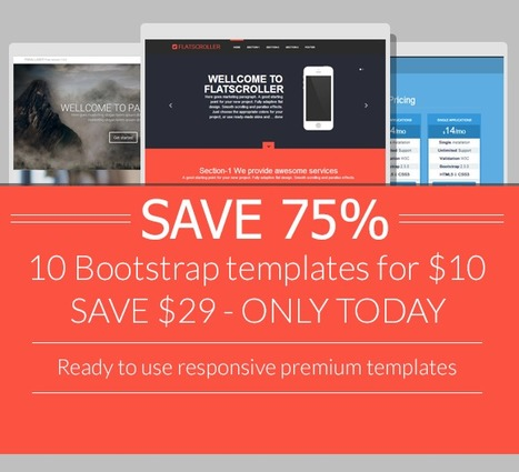 Website Templates ~ SAVE 75% Bootstrap 10 templates | Twitter Bootstrap How To | Scoop.it