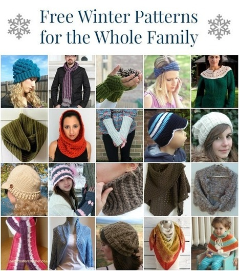 20 Free Winter Crochet Patterns for the Whole Family | Crochet Street | Crochet, Knit, Patterns, and Fiber | Scoop.it