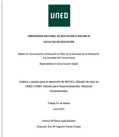 Trabajo de investigación: Análisis y pautas para el desarrollo de MOOCs   El alemán desde el español   Educación, Comunicación y Redes Sociales   Scoop.it